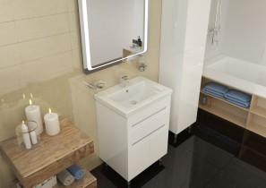 Ormarić s umivaonikom Omega - 60 cm podni