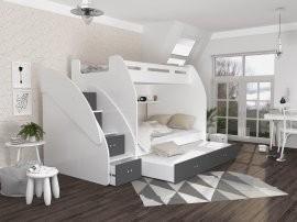 Krevet na kat Zuzia 3 s dodatnim ležajem - 120x200 cm
