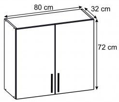 Modul Luna lignum bianco - UO 80/2 - gornji element s policomm