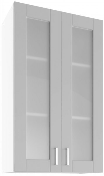 Modul Milano nube super mat - UHOW 60/2 - zidni stakleni element s dvije police